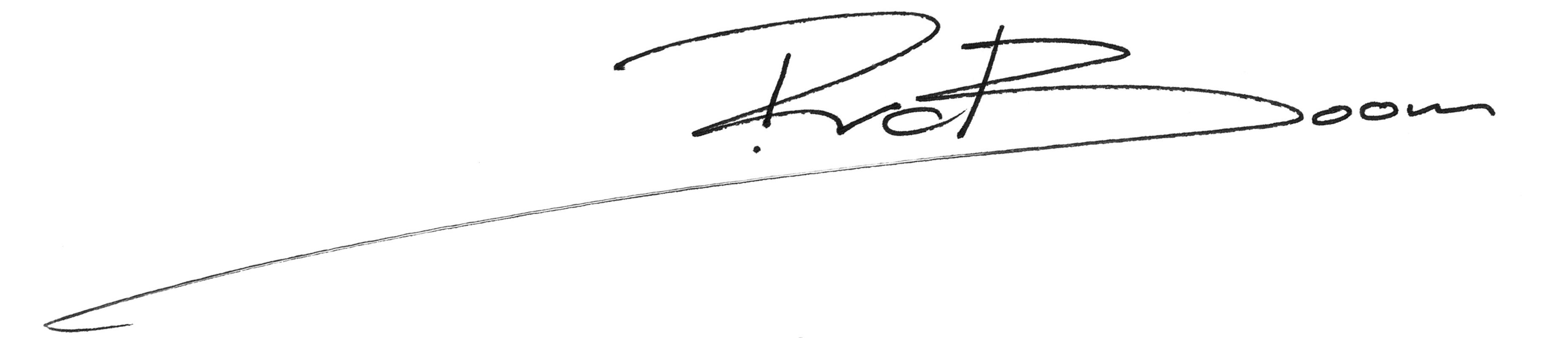 Handtekening RvdB